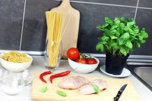 Lemon Garlic Chicken Courgetti