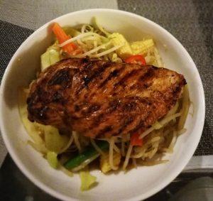 Teriyaki Chicken and Spicy Stir Fry Veg
