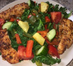 Kickin' Chicken Kale Salad